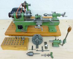 LORCH LLV INSTRUMENT LATHE This 1963 10 mm metric model from this famous German Marque has no saw cuts or damage to the bed and cross slide indicating little use or used by a skilled operator. Metal Lathe For Sale, Small Metal Lathe, Micro Lathe, Vertical Milling Machine, Lathe Machine, Machine Tools, Hobby Lathe, Antique Clock Repair, Diy Cnc