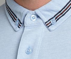 Fred Perry Gros grain tape polo Sky Blue - House of Fraser