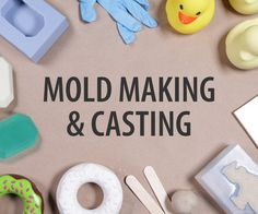 Welcome to the infinite world of Mold Making & Casting! In this class, you'll learn how to make easy molds that will allow you to cast multiples of. How To Make Plaster, How To Make Clay, How To Make Molds, Diy Silicone Molds, Resin Molds, Diy Resin Crafts, Glue Crafts, Foundant, 3d Cnc
