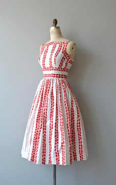 New Beginnings dress vintage 1950s dress cotton 50s dress