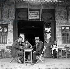 At the coffee shop, Rhodes, 1952, Photographer Dimitris Harissiadis (1911-93), Benaki Museum, Athens, Greece                              Harissiadis, Dimitris (1911-93)