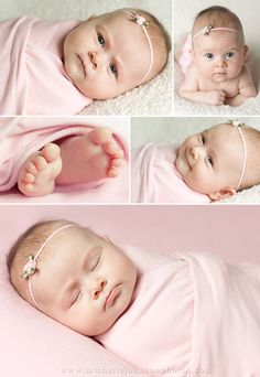 Great ideas for 2 month old shoot