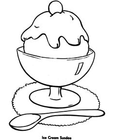 Easy Shapes Coloring Pages Free Printable Ice Cream Sundae Featuring Pre K And Primary