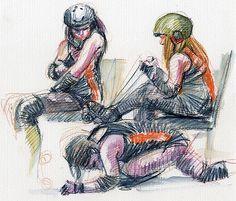 An Illustrator's Life For Me!: Sheffield Steel Rollergirls: illuSKATE this!