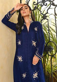 Ava-Three Salwar Suit Neck Designs, Velvet Dress Designs, Your Perfect, Pakistani Dresses, Salwar Suits, Ava, Designer Dresses, Cover Up, Silk