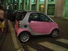 found my car..A pink smart car !!!