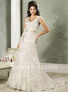 Custom made in pizzo reale abiti da sposa da sposa prom dre un linea v lungo collo ricamo di pizzo