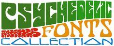 Psychedelic Font Collection | Fontcraft: Scriptorium Fonts, Art and Design