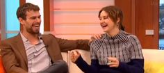"Shailene Woodley and Theo James in ""Good Morning Britain""SHEO being cute as always! Really loved to see them like that! So comfortable with each other! --- I FEEL THE SHEO JOY #insurgent #movie"