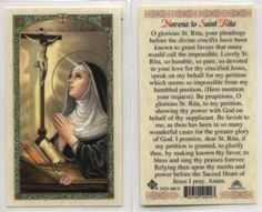 Novena to St Rita Patron of impossible causes