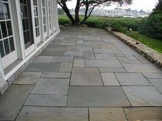 full range color bluestone patio shows the unique combination of ... - Bluestone Patio Ideas