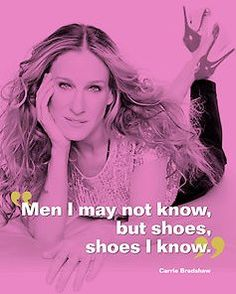 """""""Men I may not know,but shoes, shoes I know.""""  ~Carrie Bradshaw"""