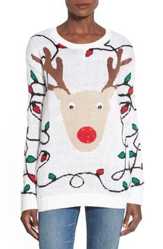 c5ba39db038 Light up reindeer ugly Christmas sweater Reindeer Sweater