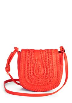 Bridle Party Bag in Sunset - Orange, Solid, Woven, Boho, Vintage Inspired, 70s, Variation