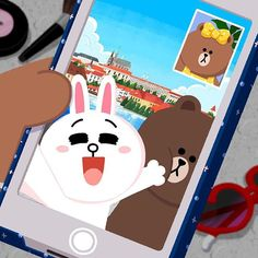 Video call with my favorite couple: Brown and Cony Cute Love Pictures, Cute Love Gif, Cony Brown, Brown Bear, Lines Wallpaper, Iphone Wallpaper, Line Cony, Bunny And Bear, Brown Line