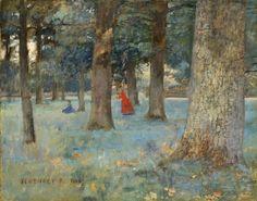 Ferenczy Károly - Változat a Madárdalhoz, 1893 Landscape Paintings, Landscapes, Artists, Fine Art, Vienna, Budapest, Austria, Inspire, Garden