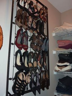 shoe rack from old crib springs
