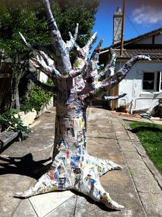 How To Make A Paper Mache Tree