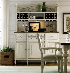 countrychic maple wood white kitchen buffet with bar hutch