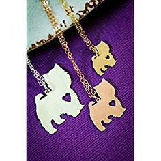 Westie Dog Necklace - IBD - Highland Terrier - Personalize with Name or Date - Choose Chain Length - Pendant Size Options - Sterling Silver Rose Gold Filled Charm - Ships in 2 Business Days Dog Necklace, Arrow Necklace, Westies, Westie Dog, Highlands Terrier, Personalized Necklace, Your Dog, Rose Gold, Charmed