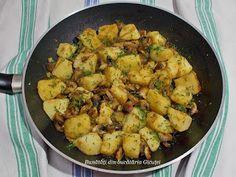 Cartofi cu ciuperci la tigaie Salvia, Kung Pao Chicken, Sprouts, Vegan, Vegetables, Ethnic Recipes, Food, Awesome, Sage