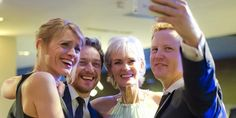 Anne-Marie Duff & James McAvoy pose for a selfie with @judmoo & @G_aryLamont at @BAFTAScotland Awards! #BAFTAScot14