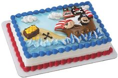 Little Pirates Cake Decorating Kit (1), FREE shipping offer, 50% off tableware, and same day order processing from Birthday Direct - Cake Decorating Kits