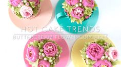 Learn some really HOT CAKE TRENDS! In this step-by-step video tutorial I demonstrate how to make very trendy buttercream peonies and roses, and create these ...