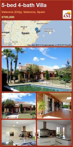 5-bed 4-bath Villa in Valencia (City), Valencia, Spain ►€700,000 #PropertyForSaleInSpain