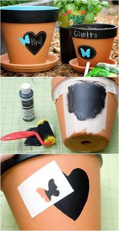 cool DIY flower pots - DIY diy making- coole DIY Blumentöpfe – Diyselbermachen cool DIY flower pots - Clay Pot Projects, Clay Pot Crafts, Diy Crafts, Decor Crafts, Diy Projects, Painted Plant Pots, Painted Flower Pots, Pots D'argile, Clay Pots