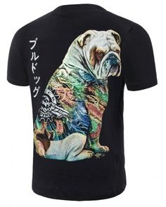 Tattoo Bulldog 3d tshirt black for men short sleeve 3d Dog, Dog Tattoos, Tee 702233ca9d4