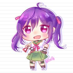 Kurumi Ebisuzawa by kuatakeru Live Happy, School Life, Anime Chibi, Zombies, Game Art, Cool Girl, Kawaii, Deviantart, Drawings