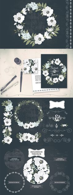 Vintage Black & White Florals - https://www.designcuts.com/product/vintage-black-white-florals/