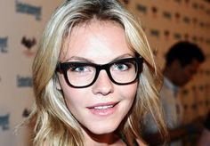 Blonde with glasses: Eloise Mumford
