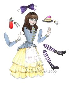 ALICE [in Wonderland] Articulated Paper Doll by Lisa Perrin