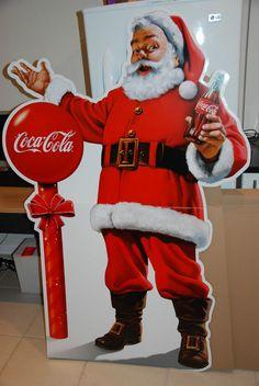 Coca-Cola Christmas Coke Santa Sign Standee 5 foot Cardboard Sign #CocaCola Coke Santa, Coca Cola Santa, Coca Cola Christmas, Standee Design, Ronald Mcdonald, Advertising, Appreciation, Xmas, Collection