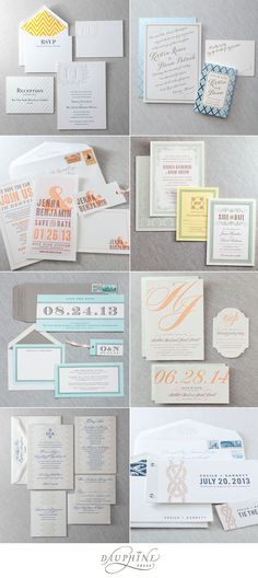 Lovely Invitation Suites from Dauphine Press available at By Invitation Only and @Paper Girl. #wedding #invitation #invite