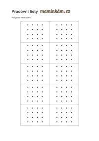 Pracovní listy pro předškoláky - zrakové vnímání 5 až 6 let - překresli správný tvar 16d Tvar, Words, Horse