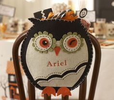 Owl Chairbacker | Pottery Barn Kids. Another felt project? P.S. How awesome are owls? Totally awesome.
