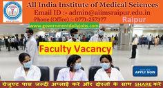 AIIMS Raipur Faculty 204 Recruitment 2017 Application
