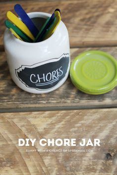 DIY Kids Chore Sticks #weePLAN