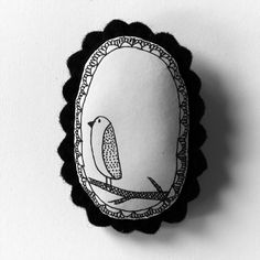 Oh my gosh! Cute Cute Cute.  Bird  b handcrafted and illustrated brooch felt by depeapa, $20.00