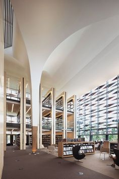 Bankstown Library Knowledge Centre , Bankstown, 2014 - fjmt | francis-jones morehen thorp #library #books #cultural