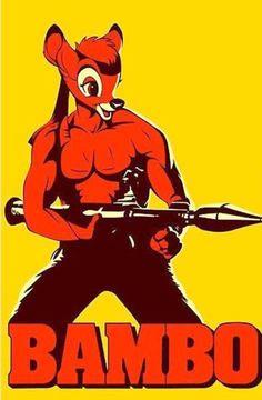 """Détournement de marques, de superhéros, de logos - """"C'est pas ma guerre"""" - #Bambi #Rambo"""