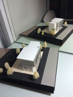 Maquete Volumétrica do projeto de Residência Mínima Temporária