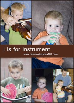 I is for Instrument preschool lesson
