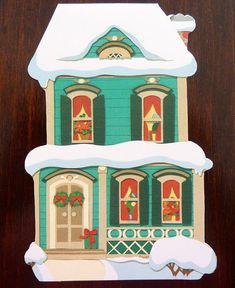 "Vintage Hallmark ""Home for the Holidays"" Christmas Card - Unused - Collectible Greetings Cards"