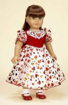 "Hearts and Lace Dress. Complete Outfit with Shoes. Fits 18"" Dolls like American Girl® Diana Collection http://www.amazon.com/dp/B00356DGOI/ref=cm_sw_r_pi_dp_7PCZub0Z3VDM6"