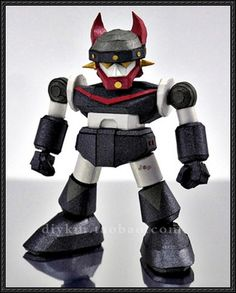 This robot paper model is a SD Taekwon V, based on Robot Taekwon V, created by and shared by El_diablo. Hype Logo, Free Paper Models, Robots, Sd, Mazinger Z, Paper Templates, Robot