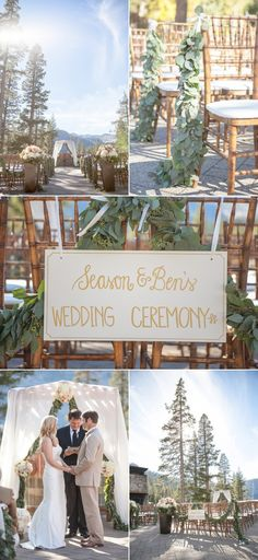 Elegant and romantic ski resort wedding at Squaw Valley. Venue: @squawcreek   Photography: Allyson Wiley   Event Planning: A Savvy Event   Floral Design: Art In Bloom
